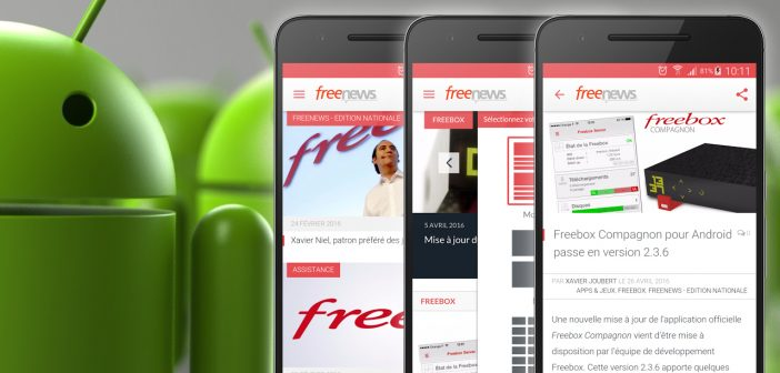 Freenews application Android 2016