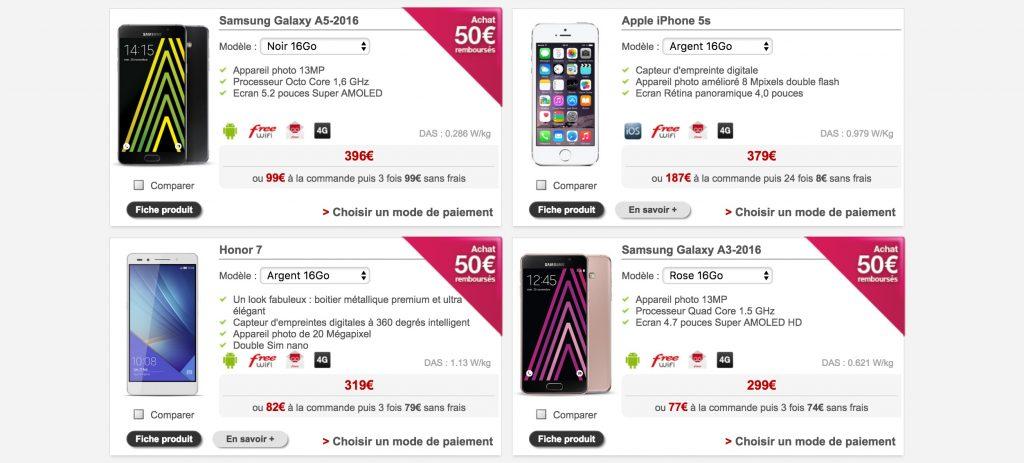Même chez Free Mobile, la majorité des modèles 4G sont incompatibles 700 MHz...