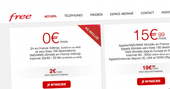 Site officiel Free Mobile responsive 2016