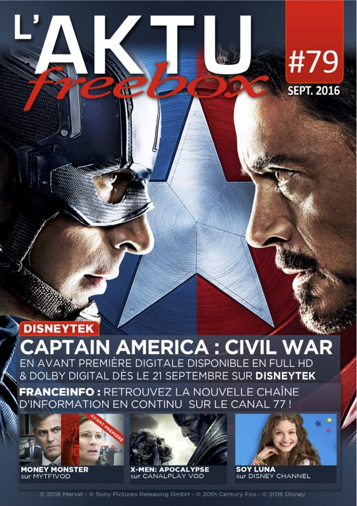 Couverture AKTU Freebox septembre 2016
