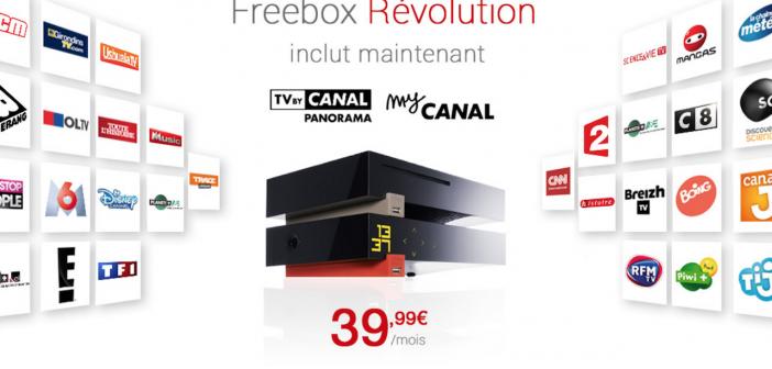 L'offre Freebox Révolution inclut Canalsat pour 39,99 €par mois