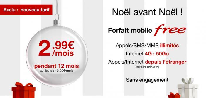 Free Mobile : l'offre 50 Go à 2,99 €/mois est prolongée