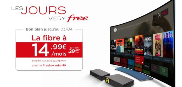 L'offre Freebox Mini 4K fibre à 14,99 € prolongée jusqu'à la fin du mois