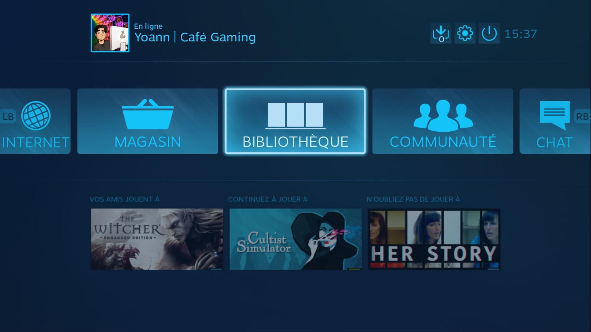 steam link beta jouez vos jeux pc sur l 39 cran de votre t l avec la freebox mini 4k. Black Bedroom Furniture Sets. Home Design Ideas