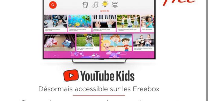 Freebox : YouTube Kids désormais disponible sur l'ensemble des forfaits proposés