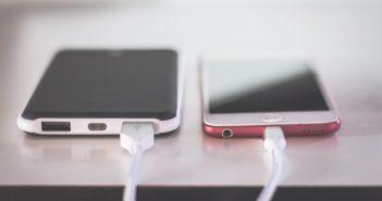 Smartphones en charge
