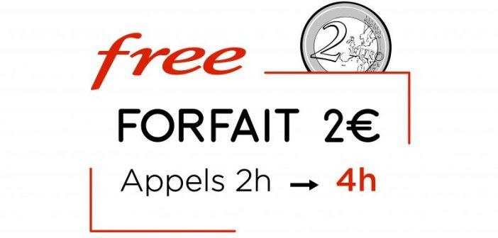 Free Mobile - Avantage abonnement 0€ et 2€
