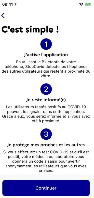 Fonctionnement application mobile StopCovid