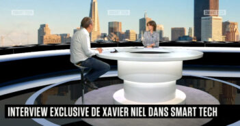 Xavier Niel sur le plateau de Smart Tech